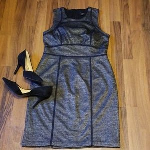 Ann Taylor | Black Gray Mini Herringbone Dress